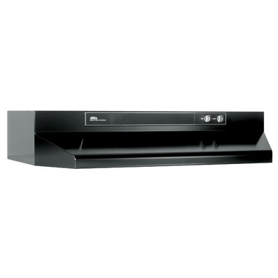 "30"" 220 CFM Convertible Under Cabinet Range Hood Finish: Black"