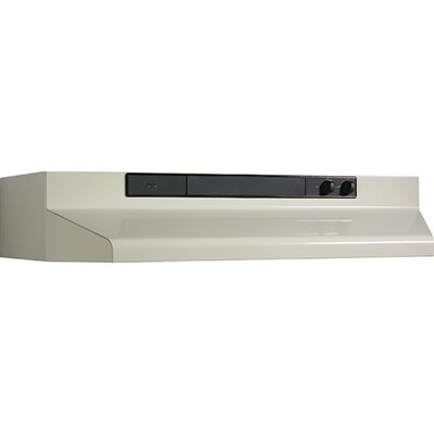 "36"" 220 CFM Convertible Under Cabinet Range Hood Finish: Bisque"