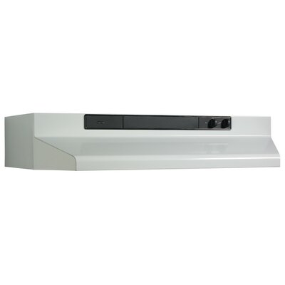 "42"" 220 CFM Convertible Under Cabinet Range Hood Finish: White"