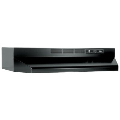 "30"" Ductless Under Cabinet Range Hood Finish: Black"