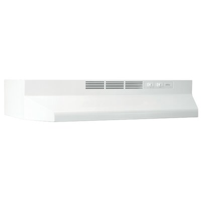 "30"" Ductless Under Cabinet Range Hood Finish: White"