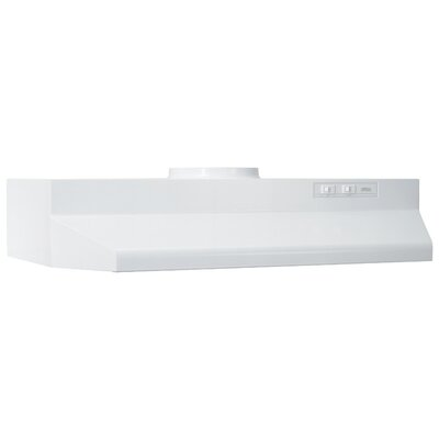 "24"" 190 CFM Ducted Under Cabinet Range Hood Finish: White"