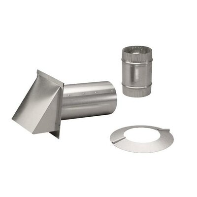 """Range Hood 10"""" Pressure Relief Damper with Wall Cap and Collar"""