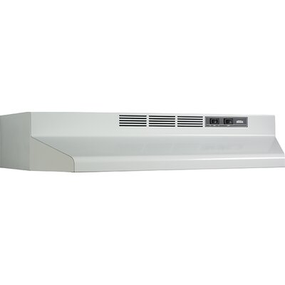 "42"" 190 CFM Convertible Under Cabinet Range Hood Finish: White"