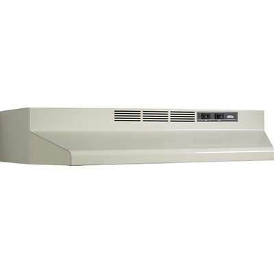 "42"" 190 CFM Convertible Under Cabinet Range Hood Finish: Bisque"