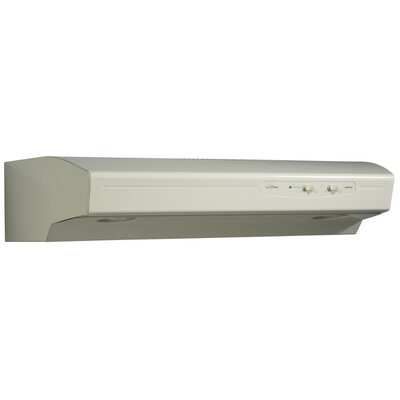 "30"" Allure 220 CFM Convertible Under Cabinet Range Hood Finish: Biscuit"