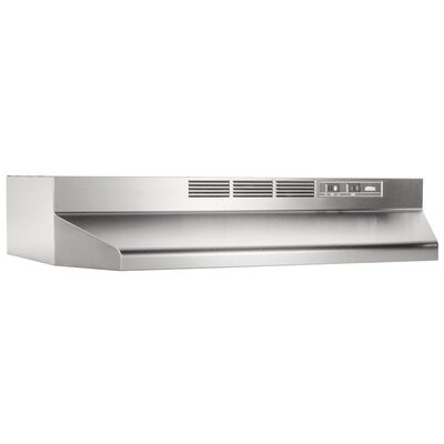 "24"" 360 CFM Ductless Under Cabinet Range Hood Finish: Stainless Steel"