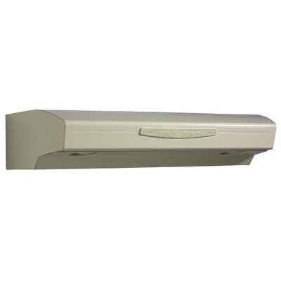 "30"" 300 CFM Convertible Under Cabinet Range Hood Finish: Almond"