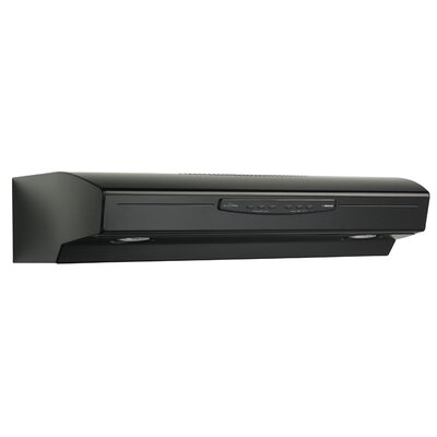 "30"" 300 CFM Convertible Under Cabinet Range Hood Finish: Black"