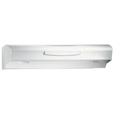 "30"" 300 CFM Convertible Under Cabinet Range Hood Finish: White"