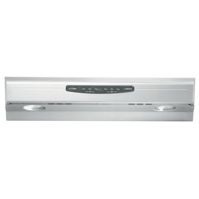 "36"" Allure 300 CFM Convertible Under Cabinet Range Hood Finish: Stainless Steel"