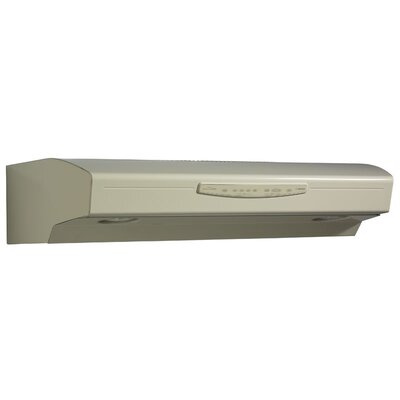 "30"" Allure III QS3 430 CFM Convertible Under Cabinet Range Hood Finish: Almond"