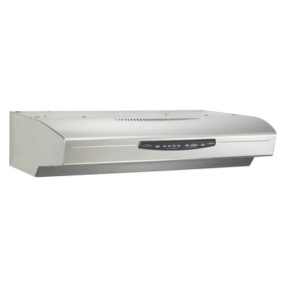 "30"" Allure III QS3 430 CFM Convertible Under Cabinet Range Hood Finish: Stainless Steel"