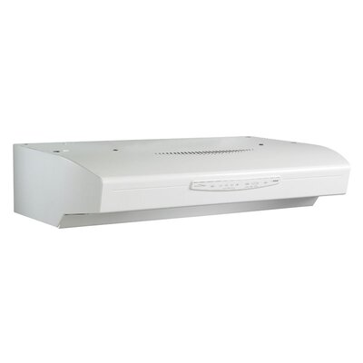"30"" Allure III QS3 430 CFM Convertible Under Cabinet Range Hood Finish: White"