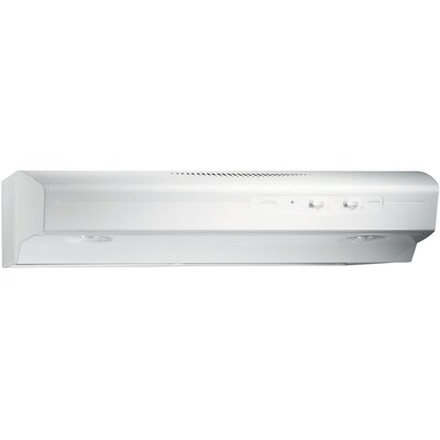 "36"" Allure 220 CFM Convertible Under Cabinet Range Hood Finish: White"