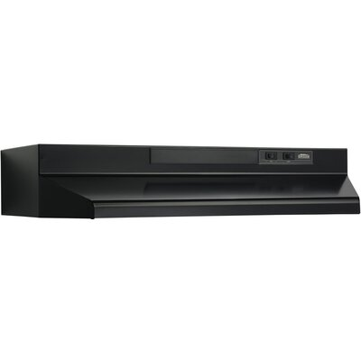 "42"" 190 CFM Convertible Under Cabinet Range Hood Finish: Black"