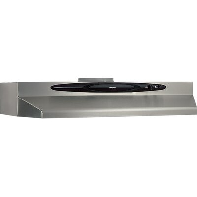 "36"" 220 CFM Convertible Under Cabinet Range Hood Finish: Stainless Steel"