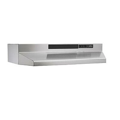 "30"" ADA Capable F40000 Series 190 CFM Ducted Under Cabinet Range Hood Finish: Stainless"