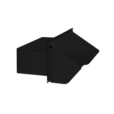 Range Hood Wall Cap Finish: Black