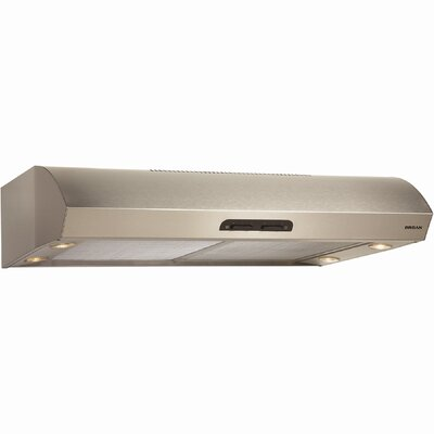 "36"" 300 CFM Convertible Under Cabinet Range Hood Finish: Stainless Steel"
