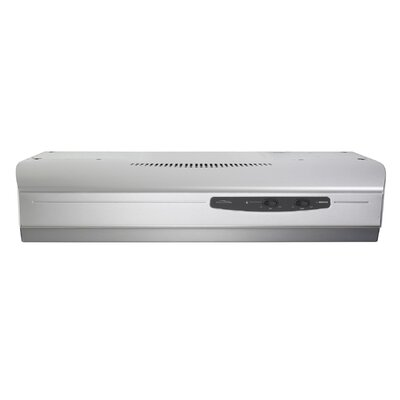 "36"" Allure 220 CFM Convertible Under Cabinet Range Hood Finish: Stainless Steel"