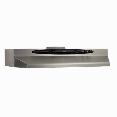"30"" 220 CFM Convertible Under Cabinet Range Hood Finish: Stainless Steel"