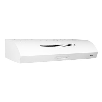 "36"" 350 CFM Ductless Under Cabinet Range Hood Finish: White"