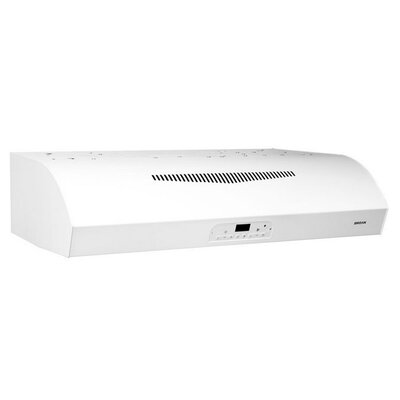 "30"" Evolution 3 Series 450 CFM Convertible Under Cabinet Range Hood Finish: White"