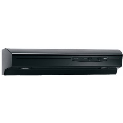 "30"" Allure 220 CFM Convertible Under Cabinet Range Hood Finish: Black"