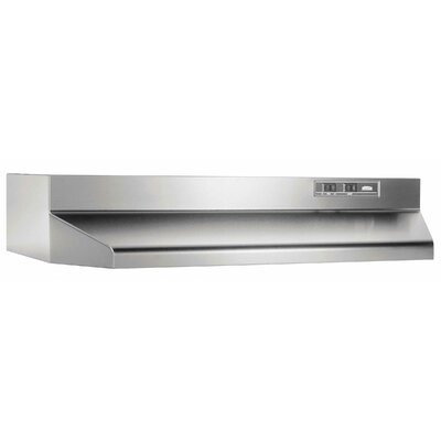 "36"" 160 CFM Ducted Under Cabinet Range Hood Finish: Stainless Steel"