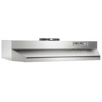 "30"" 190 CFM Ducted Under Cabinet Range Hood Finish: Stainless Steel"