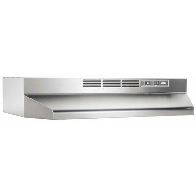 "36"" 190 CFM Ductless Under Cabinet Range Hood Finish: Stainless Steel"