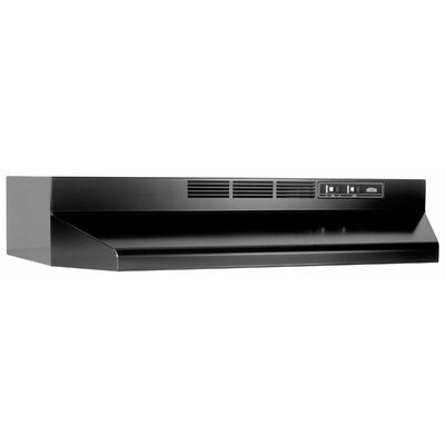 "36"" 190 CFM Ductless Under Cabinet Range Hood Finish: Black"