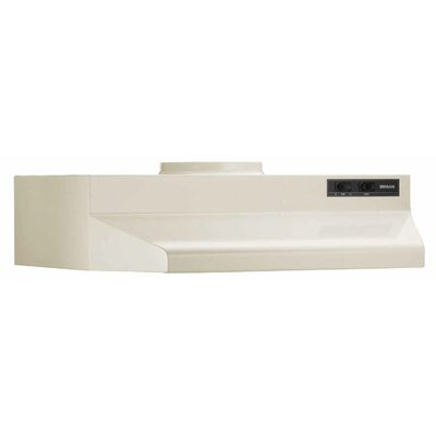 "24"" 190 CFM Ducted Under Cabinet Range Hood Finish: Bisque"