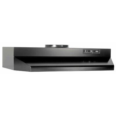 "30"" 190 CFM Ducted Under Cabinet Range Hood Finish: Black"