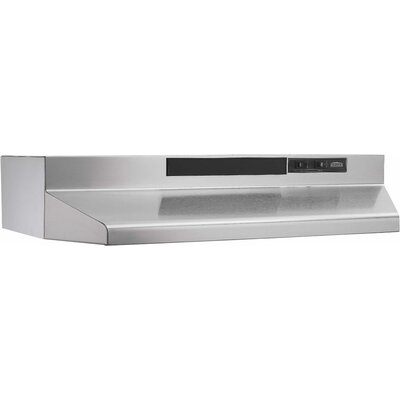 "30"" 190 CFM Convertible Under Cabinet Range Hood Finish: Stainless Steel"