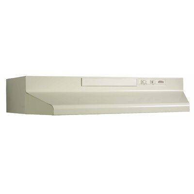 "30"" 190 CFM Convertible Under Cabinet Range Hood Finish: Bisque"