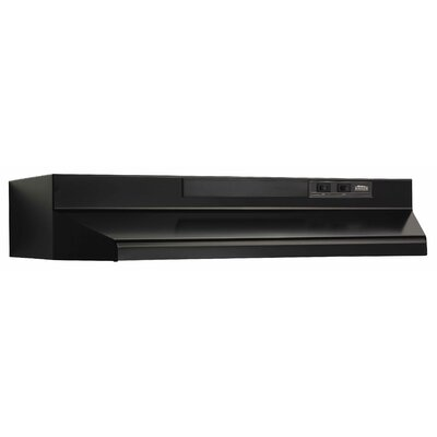 "36"" 220 CFM Convertible Under Cabinet Range Hood Finish: Black"