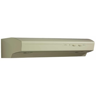 "30"" Allure 220 CFM Convertible Under Cabinet Range Hood Finish: Almond"