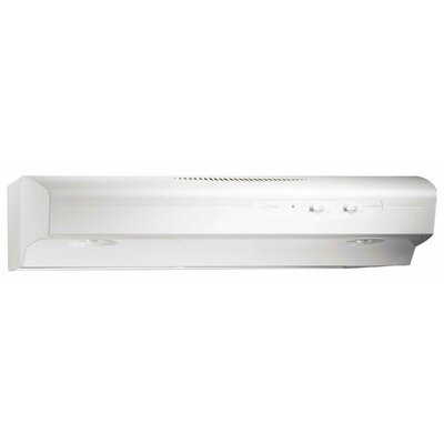 "30"" Allure 220 CFM Convertible Under Cabinet Range Hood Finish: White"