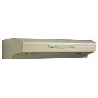 "36"" 300 CFM Convertible Under Cabinet Range Hood Finish: Almond"
