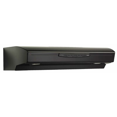 "36"" 300 CFM Convertible Under Cabinet Range Hood Finish: Black"