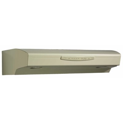 "36"" 430 CFM Convertible Under Cabinet Range Hood Finish: Almond"