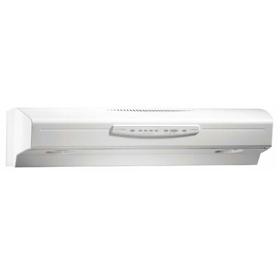 "30"" Allure III QS3 430 CFM Convertible Under Cabinet Range Hood Finish: Bisque"