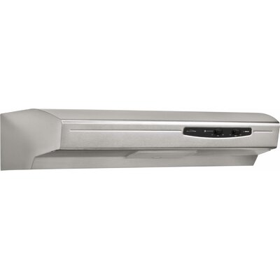 "30"" 220 CFM Ducted Under Cabinet Range Hood Finish: Stainless Steel"