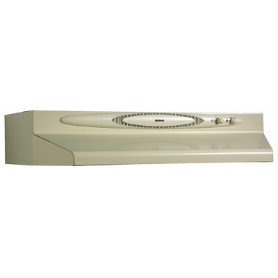 "36"" 220 CFM Convertible Under Cabinet Range Hood Finish: Almond"