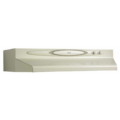 "36"" 220 CFM Convertible Under Cabinet Range Hood Finish: Biscuit"