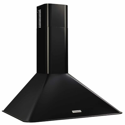 "36"" 290 CFM Convertible Wall Mount Range Hood Finish: Black"