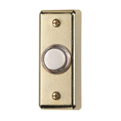 Lighted Rectangular Pushbutton Finish: Polished Brass