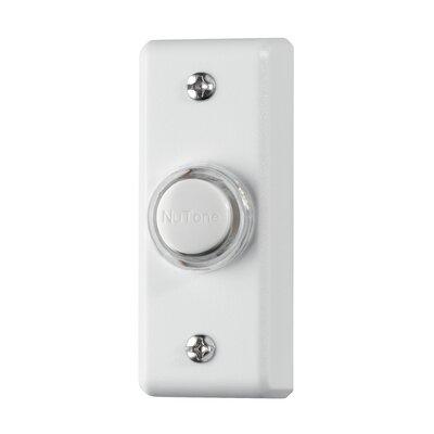 Lighted Rectangular Pushbutton Finish: White
